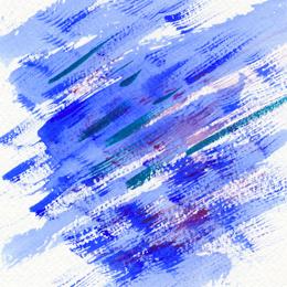 Синий  – стремительный, давящий, колкий, несущийся…