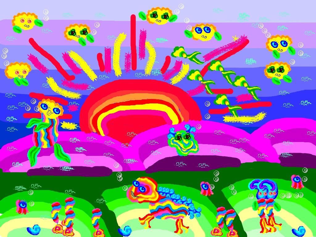 радуга нарисованные картинки для детей