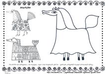 Раскраска Наряд для лошадки