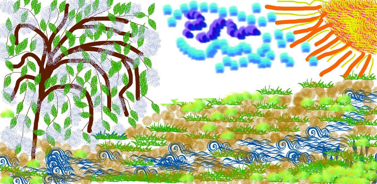 Рисунки к черемухе есенина